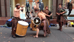 6 Scottish Men Start Playing Bagpipes In The Street. But When Drummers Join In, I Couldn't Look Away