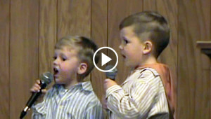 Two Brothers Begin Singing A Classic Hymn, Then Boy On The Left Steals Everyone's Heart